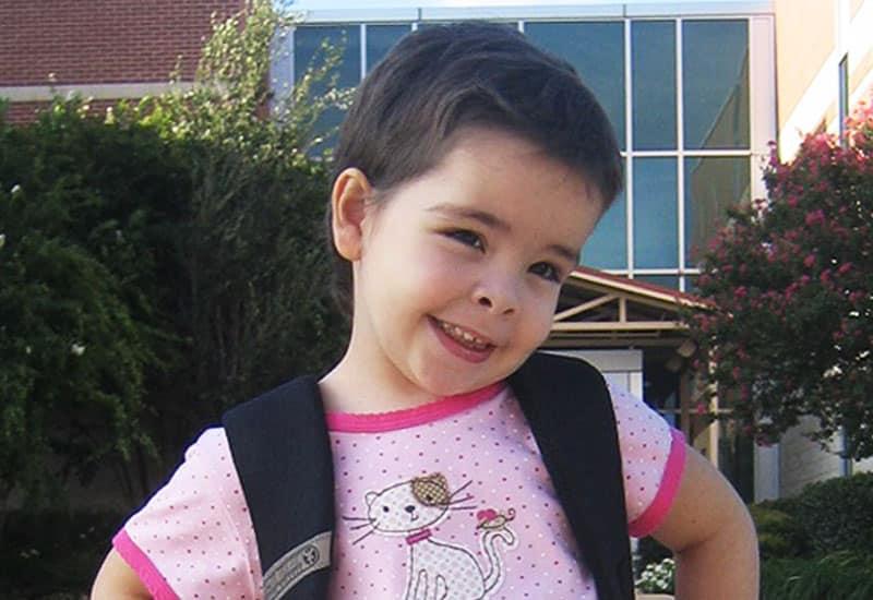 Childhood kidney cancer survivor, Emily