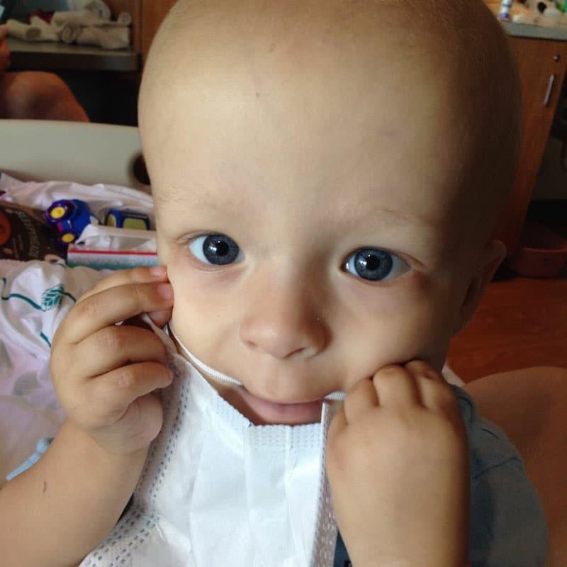 Neuroblastoma survivor, Ethen